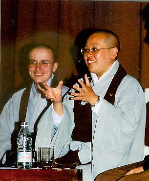 Hyang Um su nim ir Myong Hae su nim 1998